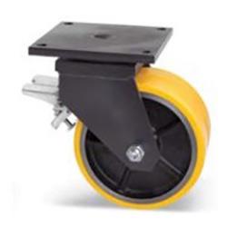 podwójne koło żeliwo poliuretan duże udźwigi